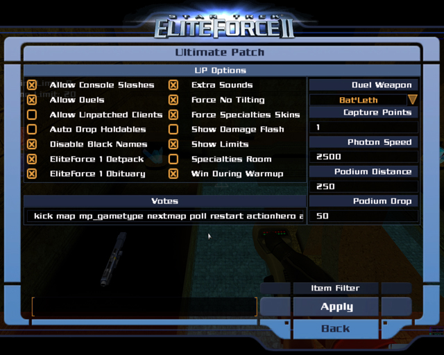Ultimate Patch 1.1 mod for Elite Force 2