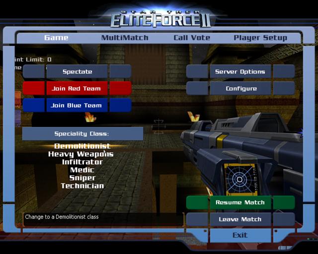 Ultimate Patch 1 1 mod for Elite Force 2 : Star Trek Elite Force I & II